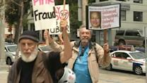 San Francisco cabbies protest ride-share companies
