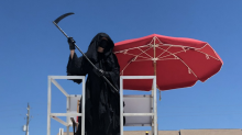 Florida attorney explains why he's touring beaches dressed as the grim reaper