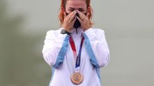 Olympics-Shooting-Tears of joy as San Marino becomes smallest Olympic medal-winning nation