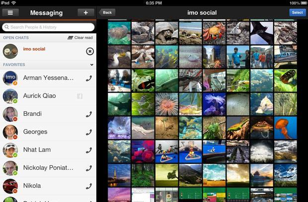Imo's iPad app augmented with free voice calling, enhanced photo sharing