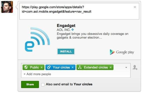 Google+ auto-embeds Android app install links to spur curious downloaders