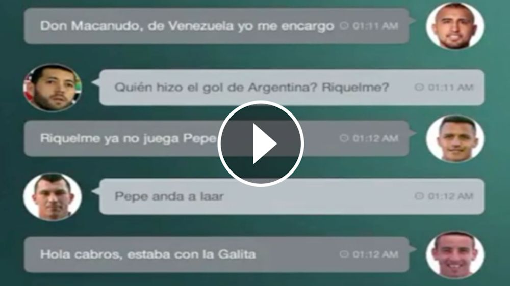 VIDEO: El hilarante ''WhatsApp de La Roja''