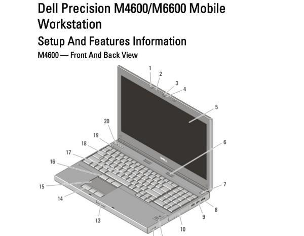 Dell Precision M4600 and M6600 specs emerge in leaked manual