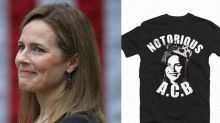 Republicans sink to new lows with hideouasly disrespectful 'Notorious ACB' t-shirts in support of Amy Coney Barrett