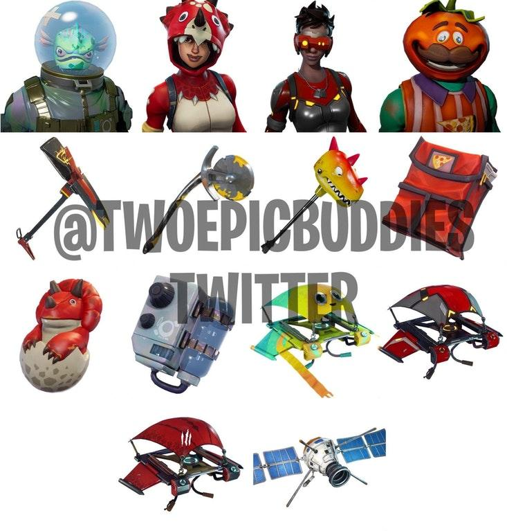 Leaked Fortnite Skins Dataminers Find Fish And Tomato Faces In