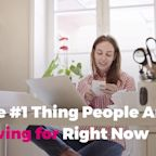 The #1 Thing People Are Saving for Right Now