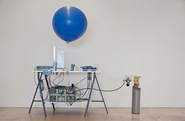 A Swiss designer built a machine that sends messages by balloon