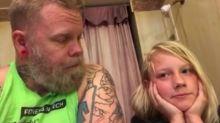Após filho sofrer bullying por ter cabelo comprido, pai grava vídeo mostrando a importância em respeitar as diferenças