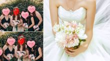 Bride Photoshops 'awful' bridesmaid out of wedding photos