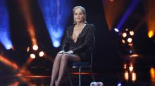 Sharon Stone shows off legs in black lingerie, says she's 'astounded' to model at 62