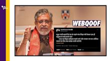 First 5 Edu Ministers From 'One Community'? Sushil Modi is Wrong