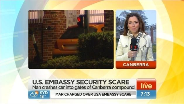 Bomb scare at US embassy