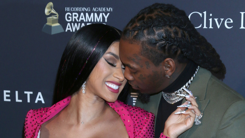 Cardi B Pet: Cardi B & Offset Looked Like A Royal Couple At The Grammys