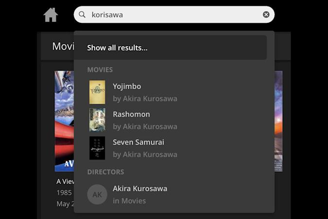 Plex on the web gets smarter with media searches