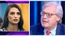 Sgarbi e la relazione con la finta Miss Europa del GF  Vip 5: il racconto dettagliato