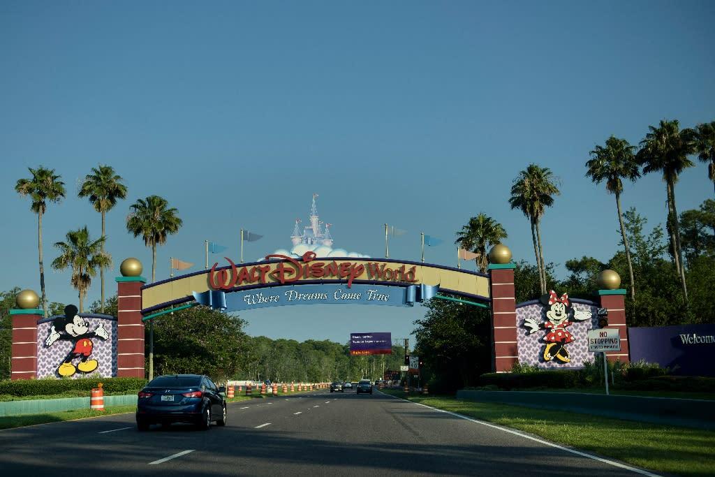The entrance to the Walt Disney World theme park is seen on June 15, 2016 in Orlando, Florida (AFP Photo/Brendan Smialowski)