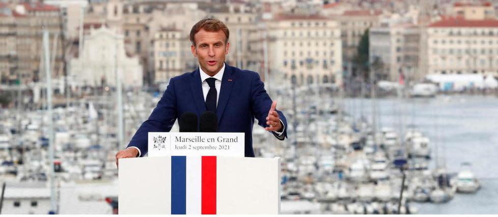 Emmanuel Macron de retour à Marseille pour un premier point d'étape