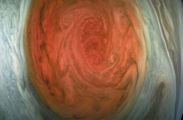 NASA releases close-up photos of Jupiter's Great Red Spot