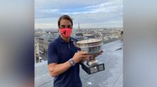 Rafael Nadal shares 'nice picture' with Roland Garros trophy