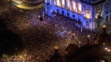 Brazil protests: Tens of thousands march against assassination of politician and rights activist