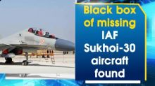 Black box of missing IAF Sukhoi-30 aircraft found