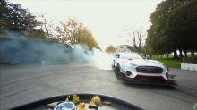 Watch Ford Mustang Mach-E 1400 silently shred Driftkhana at Goodwood