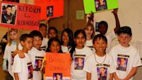 Fourth graders rally for deported classmate