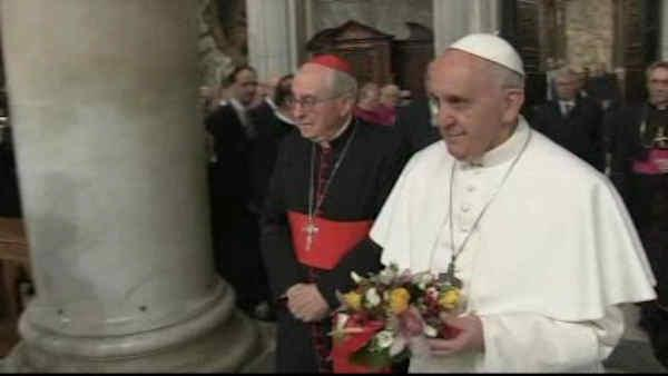 Pope Francis starts day with prayer in Rome