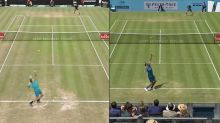 Kyrgios mimics Federer serve with pinpoint accuracy