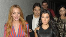Kourtney Kardashian and Lindsay Lohan Are 'Twins' During Night Out in London