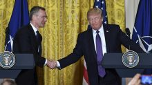Donald Trump says US - Russia relations have reached a 'low point' but reverses position on Nato