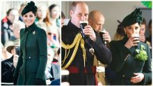 Kate Middleton stuns in green and drinks Guinness on St Patrick's Day