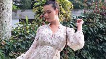 Famosas grávidas dão show de moda