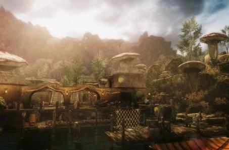 Skywind trailer travels the road from Seyda Neen to Balmora