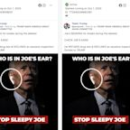 Trump campaign pushes Facebook ads promoting earpiece conspiracy with doctored image of Biden