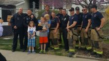 Firefighters, police rescue 10th birthday of boy who lost presents in devastating house fire
