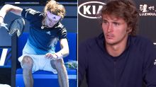 Alexander Zverev snaps at reporter after snapping his racquet