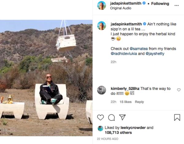 'Imagine Being This Rich': Jada Pinkett Smith's 'Tea' Video Has Fans Focusing on Her Wealth