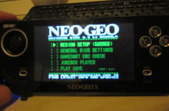 Neo Geo X hacked to run Unibios, unofficial game ROMS