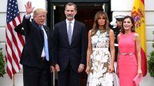 FOTOS: Así fue el encuentro de los Reyes de España con los Trump en la Casa Blanca