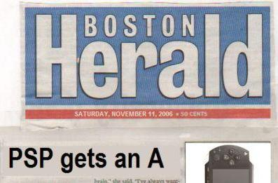 Boston Herald proudly gives PSP an A