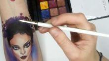 Artista faz 'tatuagens' realistas impressionantes usando apenas maquiagem