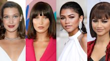 What 52 celebs look like with and without a fringe