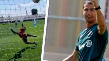 Foot - WTF - Vidéo: Cristiano Ronaldo martyrise un gardien de la Juventus Turin à l'entraînement