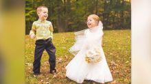 Una niña de cinco años 'se casa' con su mejor amigo antes de ser operada a corazón abierto