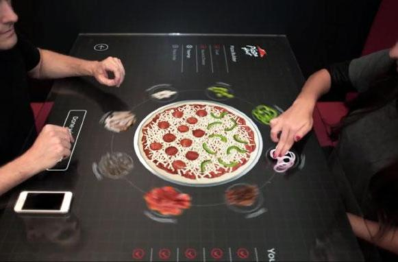 Pizza Hut's concept touch table lets you swipe your way to a perfect pie (video)