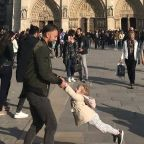 This Cute Photo Taken Just Before the Notre Dame Fire Started a Viral Search