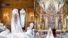 氣派十足!用上500,000珠片全人手鏽上的婚紗!