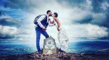 Bride scales 8 mountains in 8 days — in wedding dress — to raise awareness of her disease