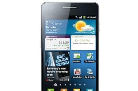 Samsung Galaxy S II gets official for Canada on Bell, Virgin Mobile and SaskTel
